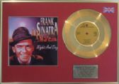 "FRANK SINATRA - 24 Carat Gold Disc 7"" + cover - NIGHT AND DAY"